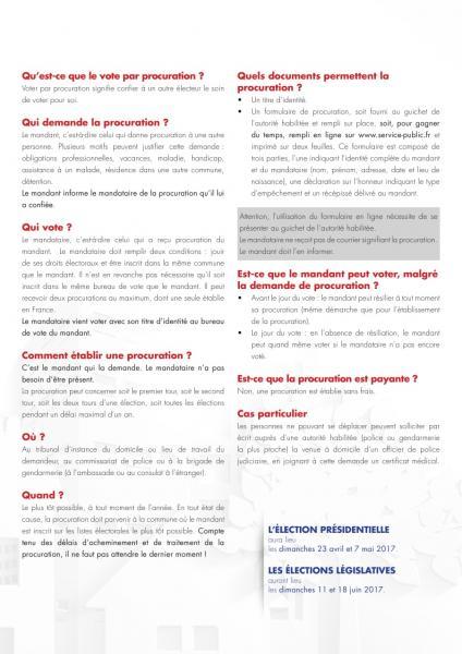 Info vote par procuration